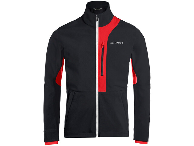VAUDE Virt Softshell Jacket Men black/red